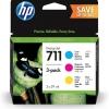 Cartus original HP 711 28ml CMY Ink Crtg 3-Pack P2V32A