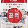 Cartus original Canon CLI-581XL cyan magenta yellow BK PHOTO VALUE Pack 4x6 Phot Paper (PP-201 50sheets) Cyan XL Magenta XL Yell